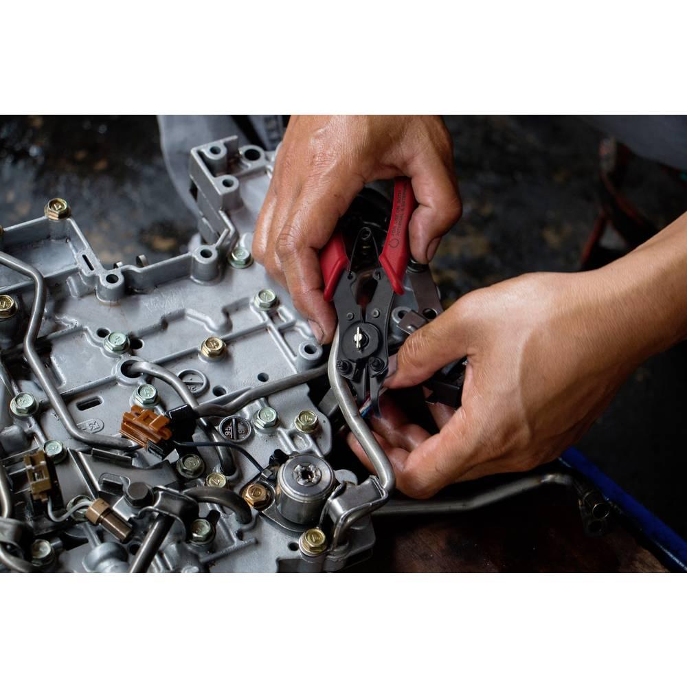 Kliješta za seger osigurače, za unutarnje i vanjske osigurače 10-50 mm 10-50 mm šiljasta, ravna, pod kutom od 45° i 90° TOOLCRAF