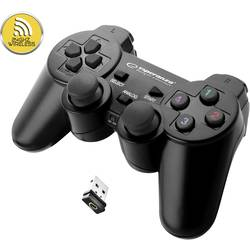 Handkontroll Esperanza Gladiator PC, PlayStation 3 Svart