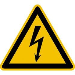 Opozorilna tabla Električna napetost Aluminij 100 mm ISO 7010 1 KOS