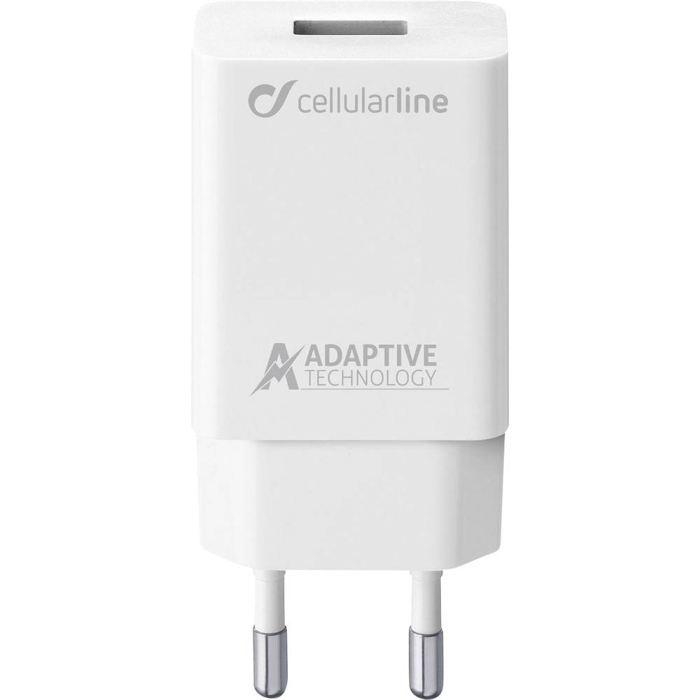 USB-oplader Cellularline ACHSMUSB15WW 39226 Stikdåse Udgangsstrøm max. 2400 mA 1 x USB 2.0 Buchse A (value.1390697)