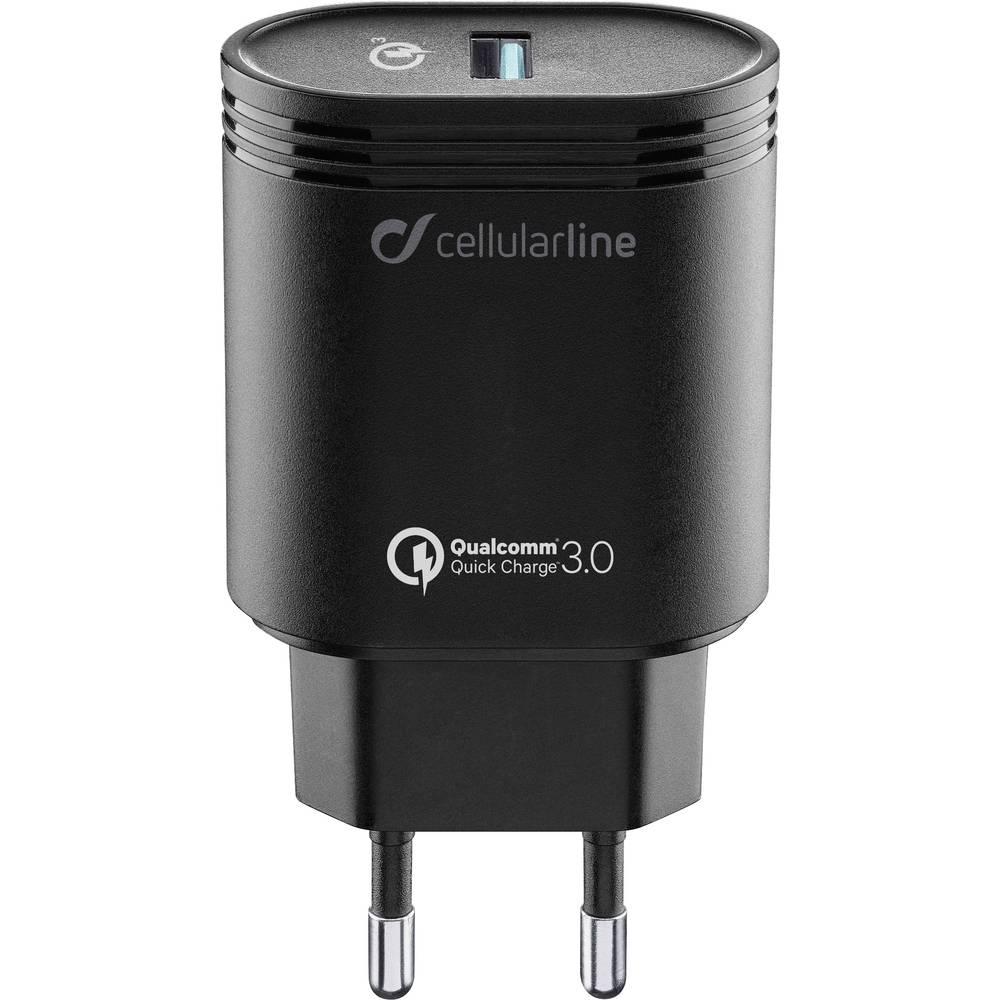 USB-oplader Cellularline ACHHUUSBQCK 39237 Stikdåse Udgangsstrøm max. 3000 mA 1 x USB 3.0 Buchse A (value.1390665)