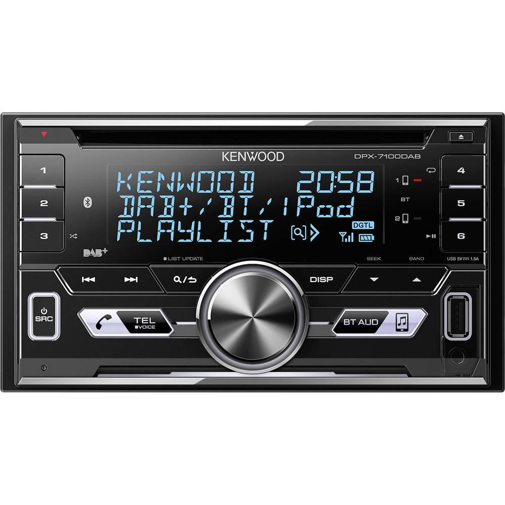 Kenwood DPX-7100DAB dvojni DIN avtoradio, Bluetooth® prostoročno telefoniranje, priključek za volanski daljinski upravljalni