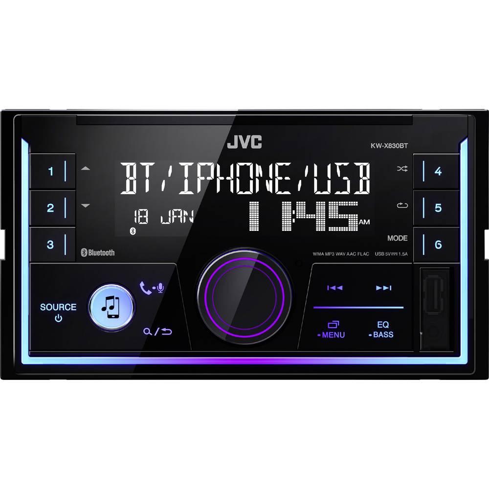 JVC KW-X830BT avtoradio, Bluetooth® prostoročno telefoniranje, priključek za volanski daljinski upravljalnik