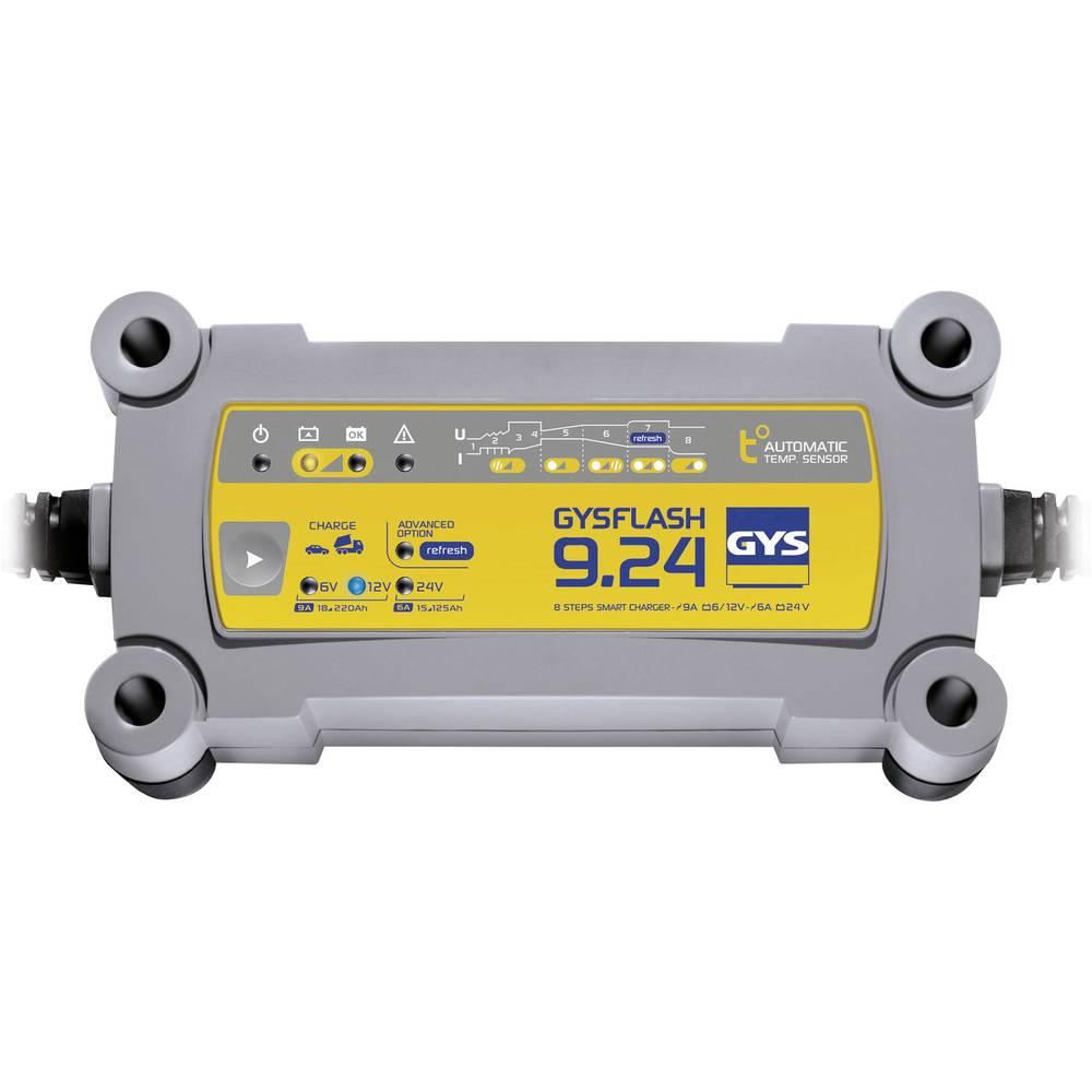 Automatisk oplader GYS GYSFLASH 9.24 029477 6 V, 12 V, 24 V 9 A 9 A 6 A