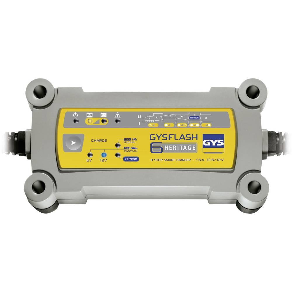 Automatisk oplader GYS GYSFLASH HERITAGE 6A 029538 12 V, 6 V 0.8 A 6 A