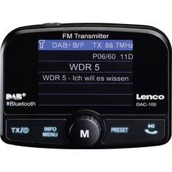 Lenco DAC-100 DAB+ sprejemnik Bluetooth pretakanje glasbe, funkcija prostoročnega govora, nosilec z vakumskim priseskom