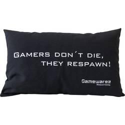 Kudde GAMEWAREZ GAMERS DON'T DIE, THEY RESPAWN! Svart