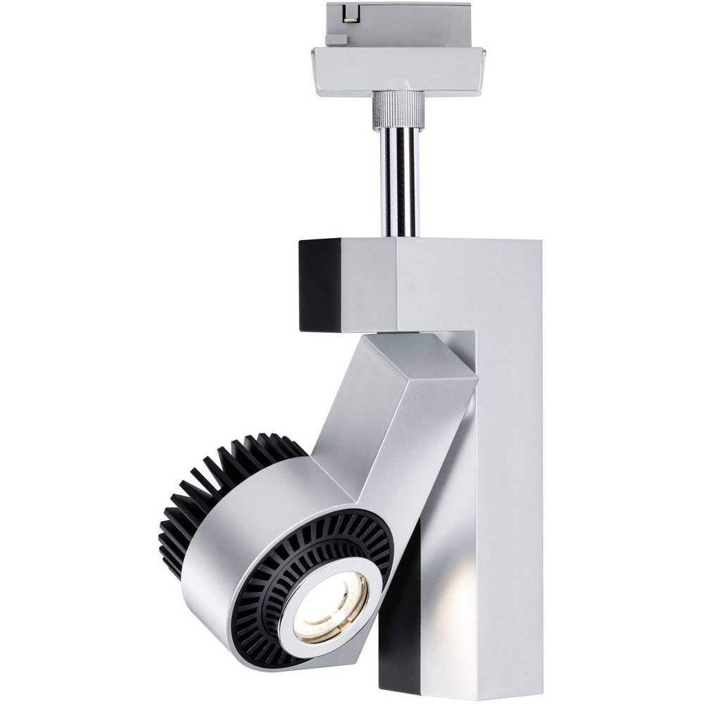 Højvolt-skinnesystem-lampe Paulmann Link VariLine (2-faset) (value.1729183) LED indbygget 10 W LED Krom (mat), Sort (mat)