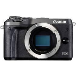 Systemkamera Canon EOS M6 Hus 24.2 MPix Svart WiFi, Bluetooth, Full HD Video