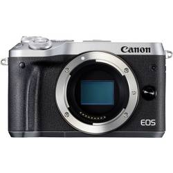 Systemkamera Canon EOS M6 Hus 24.2 MPix Silver WiFi, Bluetooth, Full HD Video
