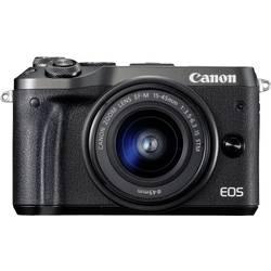 Systemkamera Canon EOS M6 inkl. EF-M 15-45 mm IS STM 24.2 MPix Svart WiFi, Bluetooth, Full HD Video