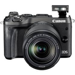 Systemkamera Canon EOS M6 inkl. EF-M 18-150 mm 24.2 MPix Svart WiFi, Bluetooth, Full HD Video