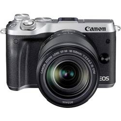 Systemkamera Canon EOS M6 inkl. EF-M 18-150 mm 24.2 MPix Silver WiFi, Bluetooth, Full HD Video