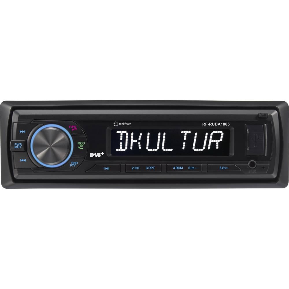 Renkforce RUDAB-1805 avtoradio DAB+ Tuner, vklj. DAB antena, Bluetooth® prostoročno telefoniranje