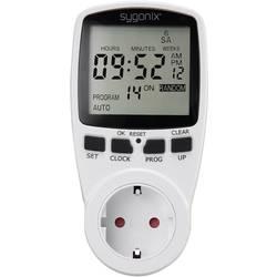 Sygonix 1625525 stikalna ura za vtičnico, digitalna, tedenski program 3680 W funkcija časovnika, START/STOPP funkcija, funkcija