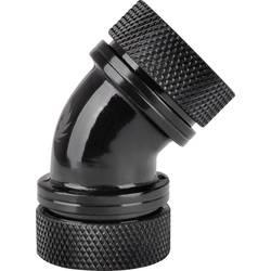 Thermaltake Pacific G1/4 PETG Tube 45-Degree Dual Compression 16mm OD – Black vodno hlajenje-kotni priključek