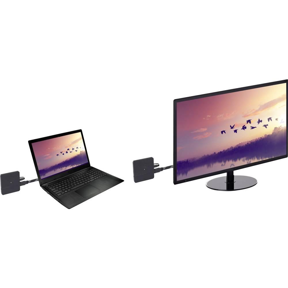 SpeaKa Professional SP-HDFS-02 HDMI komplet za brezžični prenos 10 m 60 GHz 3840 x 2160 pikslov