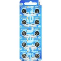 Gumbne celice LR 44 Alkalno-manganov Renata LR44.MP 110 mAh 1.5 V 10 KOS