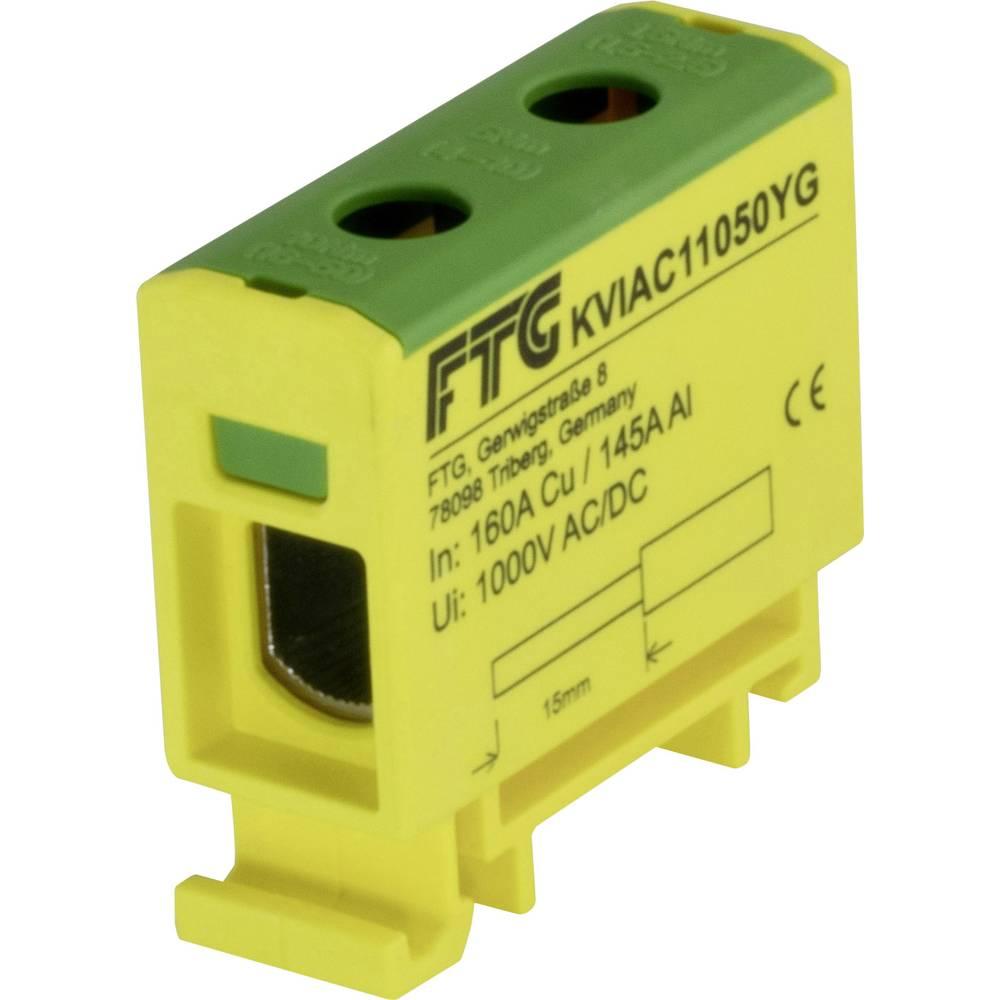 FTG Friedrich Göhringer KVIAC11050YG povezovalna sponka rumena, zelena 1-polni 50 mm² 160 A, 145 A Vrste vodnikov = PE