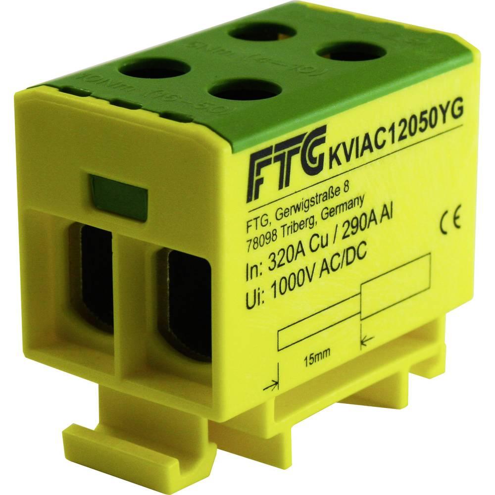 FTG Friedrich Göhringer KVIAC12050YG povezovalna sponka rumena, zelena 1-polni 50 mm² 320 A, 290 A Vrste vodnikov = PE