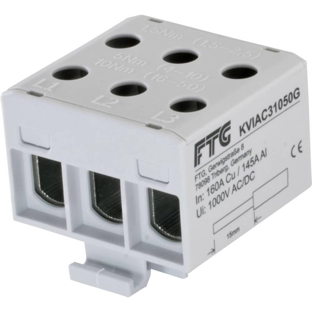 FTG Friedrich Göhringer KVIAC31050G povezovalna sponka siva 3-polni 50 mm² 160 A, 145 A Vrste vodnikov = L