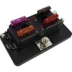 SecoRüt FHA504 LED razdelilnik električnega toka za standardne ploščate varovalke št. polov: 4 30 A 1 kos