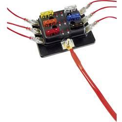 SecoRüt FHA506 LED razdelilnik električnega toka za standardne ploščate varovalke št. polov: 6 30 A 1 kos