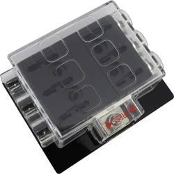 SecoRüt FHA406 razdelilnik električnega toka za standardne ploščate varovalke št. polov: 6 30 A 1 kos