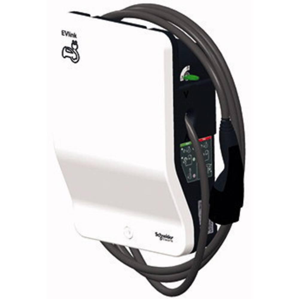 EVlink Wallbox eMobility opladerstation Schneider Electric EVB1A7PCKI Type 2 Mode 2 32 A 7.4 kW Nøglekontakt