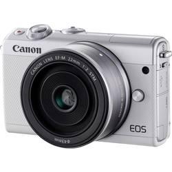 Systemkamera Canon EOS M100 inkl. EF-M 15-45 mm + EF-M 22 mm 24.2 MPix Vit WiFi, Bluetooth, Hopfällbar display, Touch-Screen, Fu