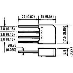 Mostični usmernik Infineon Technologies 2KBP06 SIP-4 600 V 1.9 A enofazni