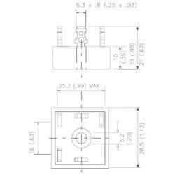 Mostični usmernik Vishay 36MT160PBF D-63 1600 V 35 A trifazni