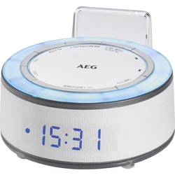 AEG MRC 4151 radijska ura ukw aux bela