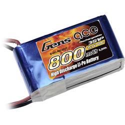 Gens ace LiPo akumulatorski paket za modele 11.1 V 800 mAh Število celic: 3 40 C Mehka torba BEC
