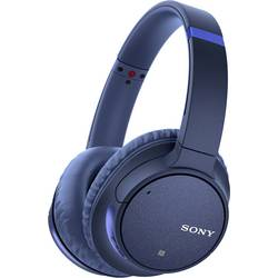 Bluetooth® on ear slušalice Sony WH-CH700N na ušima slušalice s mikrofonom, poništavanje buke plava boja