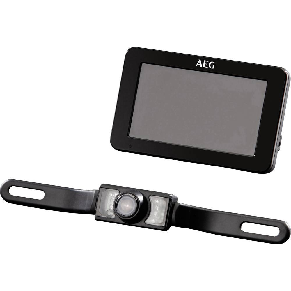 AEG RV 4:3 Brezžični vzvratni video sistem Oddaljenost od ovire, Samodejna nastavitev beline Črna