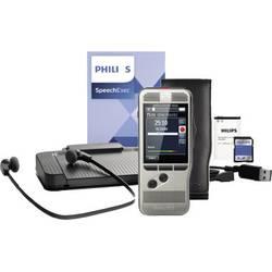 Digitalni diktafon Philips Digital Pocket Memo Starter Kit DPM 7700 Srebrna S torbico, Vklj. z 4 GB pomnilniško kartico