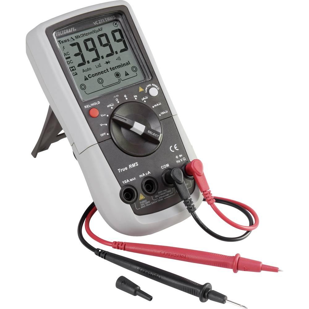 VOLTCRAFT ročni multimeter, kalibracija narejena po: delovnih standardih CAT III 600 V število znakov na zaslonu: 4000