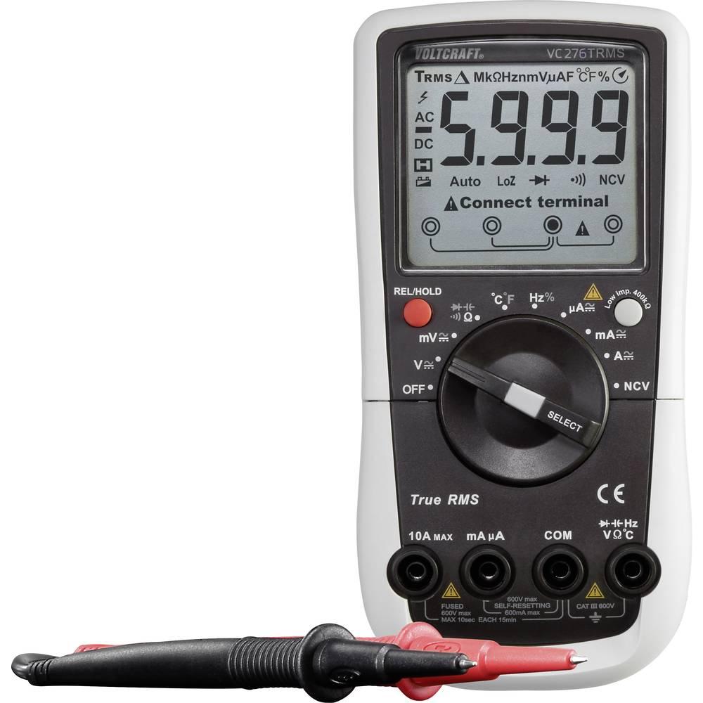 VOLTCRAFT VC276 ročni multimeter, kalibracija narejena po: delovnih standardih CAT III 600 V število znakov na zaslonu: 6000