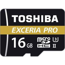 microSDHC-Kort Toshiba EXCERIA™ PRO M501 Class 10, UHS-II, UHS-Class 3 16 GB inkl. SD-adapter