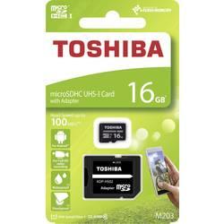 microSDHC-Kort Toshiba M203 Class 10, UHS-I 16 GB inkl. SD-adapter
