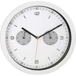 Radijsko vodena stenska ura učni komplet Mebus 52826 260 mm x 42 mm bele barve
