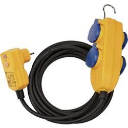 Brennenstuhl 1168730010 tok podaljšek črna, rumena 10.00 m primeren za uporabo na prostem, s prcd