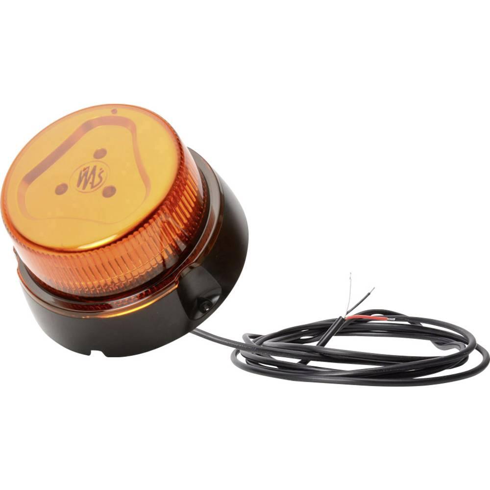 WAS rotacijska luč W112 852.4 12 V, 24 V vijačna pritrditev oranžne barve