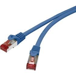 RJ45 omrežni kabel CAT 6 S/FTP 0.25 m modre barve z zaščitnim zapornim zatičem, pozlačeni vtični kontakti Renkforce