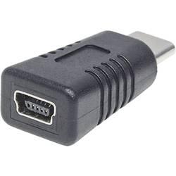 USB 2.0 Adapter [1x - 1x Ženski konektor USB 2.0 tipa Mini B] Črna Manhattan