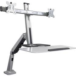 2 kratni Namizni nosilec za monitor 33,0 cm (13) - 68,6 cm (27) Možnost nagiba, Možnost obračanja, Vrtljivi Manhattan Ergonomi