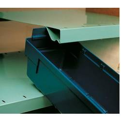 510604 zabojnik s predali primeren za prehrano (Š x V x G) 240 x 150 x 600 mm modra 10 kos
