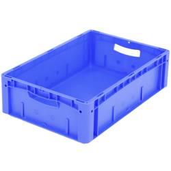 1657979 Ergonomic škatla za shranjevanje z mrežico primeren za prehrano (D x Š x V) 600 x 400 x 170 mm modra 1 kos