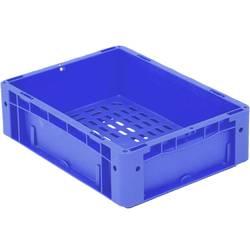 1657982 Ergonomic škatla za shranjevanje z mrežico primeren za prehrano (D x Š x V) 400 x 300 x 120 mm modra 1 kos